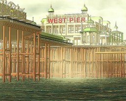 west pier architectural reconstruction